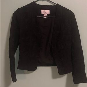 H&M black blazer with raised print